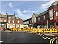 SJ8445 : Newcastle-under-Lyme: roadworks on Hassell Street by Jonathan Hutchins