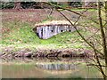 SK1545 : WWII pill box beside the River Dove by Graham Hogg