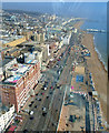 TQ3004 : A259 and beaches viewed from i360 by Paul Gillett