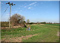 TL5257 : Farm track and New Cut Drain by John Sutton
