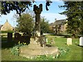 SP3444 : Preaching cross, Midle Tysoe churchyard by Philip Halling
