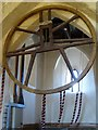 SP2545 : Wheel from a bell frame by Philip Halling