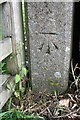 NZ1802 : Benchmark on concrete gatepost at gateway from Gilling Road by Roger Templeman