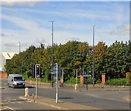 SJ7996 : Junction of Mosley Road and Village Way by Gerald England
