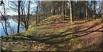 NS3977 : Mound beside the River Leven by Lairich Rig