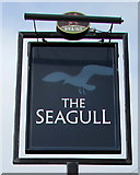 SS8178 : Seagull pub name sign, Porthcawl by Jaggery