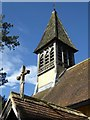 SO9144 : Belfry, Besford church by Philip Halling