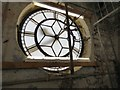 SJ9494 : Interior view of Hyde Town Hall clockface by Gerald England