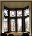 SJ9494 : Windows in Hyde Town Hall. by Gerald England