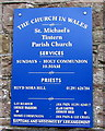 SO5300 : St Michael's Tintern Parish Church name sign by Jaggery