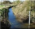 SU6965 : Gauge Board on the Foudry Brook by Des Blenkinsopp