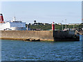 T1312 : Rosslare Europort, Breakwater and Lighthouse by David Dixon