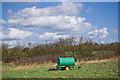 TM0557 : Farm equipment at Church Meadow nature reserve by Adam Lack