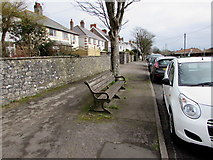 SS8178 : Coronation commemoration bench, West Road, Nottage by Jaggery
