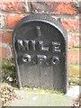 NZ2714 : Old Milepost in Pierremont Crescent, Darlington by Milestone Society