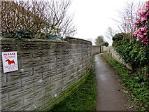 SS8178 : Public footpath from the east side of Anglesey Way, Nottage, Porthcawl by Jaggery