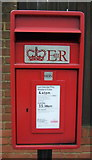 TL1614 : Close up, Elizabeth II postbox on Lower Luton Road, The Folly by JThomas
