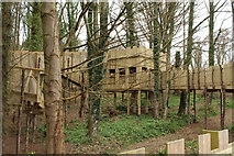 NS2209 : Kids Play Fort in the Woods at Culzean Country Park by Billy McCrorie