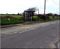 SS8178 : West Road(NW) bus stop and shelter, Nottage, Porthcawl by Jaggery