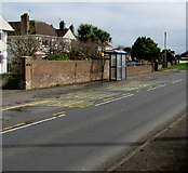 SS8178 : West Road bus stop and shelter near Long Acre Drive, Nottage, Porthcawl by Jaggery