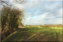 SE3664 : Approaching Newfields Farm by Derek Harper