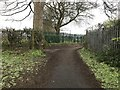 SJ6965 : Path junction on Hannah's Walk, Middlewich by Jonathan Hutchins
