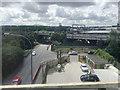 SP0887 : Main line railway crosses Lawley Middleway northbound, Vauxhall, Birmingham by Robin Stott