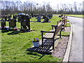 SO9594 : Cemetery Benches by Gordon Griffiths