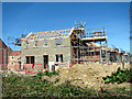 TG1505 : New houses under construction at Kett's Meadow by Evelyn Simak