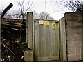 ST7848 : Wooden gate at the entrance to a Berkley Road electricity substation, Frome by Jaggery