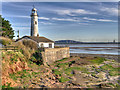 SJ4780 : Lighthouse at Hale Head by David Dixon