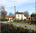 TM1192 : Church Road past Rectory Cottage by Evelyn Simak