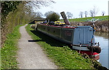 SP7089 : Narrowboat moored near Foxton Stepbridge No 6 by Mat Fascione
