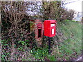 SO4614 : Queen Elizabeth II postbox and the shell of its predecessor near Hendre, Monmouthshire by Jaggery