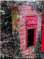 SO4614 : Shell of a King Edward VII postbox near Hendre, Monmouthshire by Jaggery