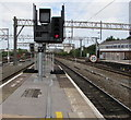 SJ8989 : Signal ST2F, Stockport railway station by Jaggery