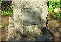 SX1352 : Plaque on war memorial, Hall Walk by Derek Harper