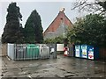 SJ7066 : Recycling bank in Civic Way car park, Middlewich by Jonathan Hutchins