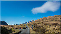 NM6231 : Looking up the A849 in Glen More by Peter Moore