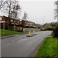 ST2796 : Pedestrian refuge in Thornhill Road, Upper Cwmbran by Jaggery