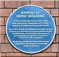 SD8913 : Blue plaque: Kenion St Music Building by Gerald England