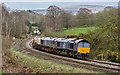 NY5156 : Nuclear flask train approaching How Mill - March 2017 by The Carlisle Kid