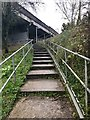 SJ8762 : Steps up from the Macclesfield Canal towards the A527 by Jonathan Hutchins