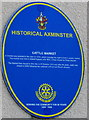 SY2998 : Cattle Market blue plaque, Axminster by Jaggery