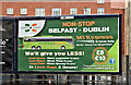 J3473 : Dublin Coach poster, Belfast (April 2017) by Albert Bridge