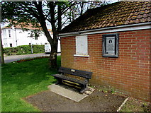 ST3050 : Millennium 2000 Bench on a Burnham-on-Sea corner by Jaggery
