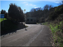 TA0390 : Entrance to Scalby Mills pumping station by Stephen Craven