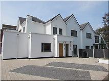ST3049 : White houses on a Burnham-on-Sea corner by Jaggery