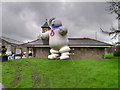 SD8022 : Stay Puft Marshmallow Man at Rawtenstall Station by David Dixon