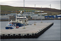 HU4642 : Fishing vessels at the new Holmsgarth Pier, Lerwick by Mike Pennington